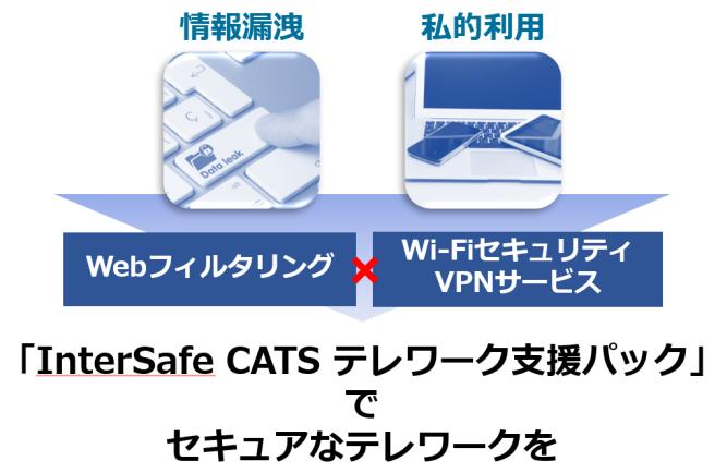 InterSafe CATSテレワーク支援パックでセキュアなテレワークを実現